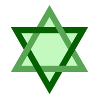 Multicolor Star of David Clip Art 4
